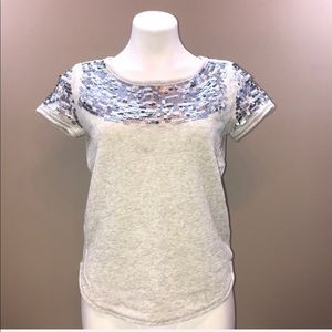AERIE Sequin short sleeve sweater Size S